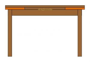 Mesa rectangular con marquetería extensible de 170 cm a 250 cm