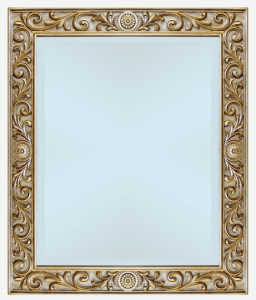 Espejo con tallados en pan de oro