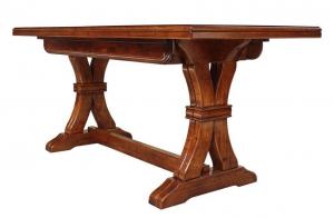 Mesa rectangular y extensible en madera maciza de haya 180-360 cm