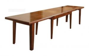 Mesa rectangular extensible estilo clásico 160-340 / 180-360 cm