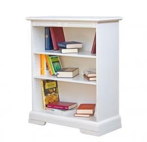 Librería baja lacada con estantes ajustables