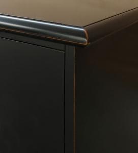 Mueble de salón color negro, 2 metros