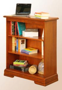 Pequeña librería de madera con estantes