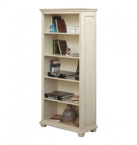 Libreria lacada con estantes fijos