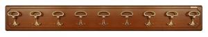 Perchero de pared 9 ganchos hecho de madera