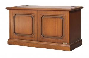 Caja de almacenaje estilo clásico madera resistente anchura cm 100