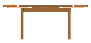 Mesa rectangular estilo clásico en madera 160cm