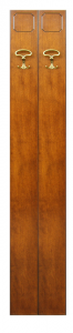 Tablero de madera 2 ganchos por entrada