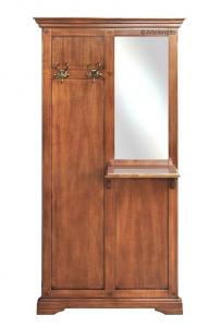 Mueble de entrada en madera clásico con espejo lateral