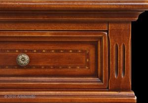 Consola mesa auxiliar rectangular con marquetería
