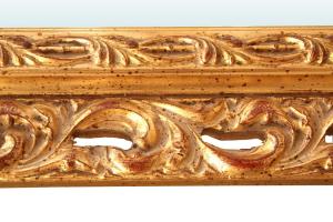 Espejo clásico en pan de oro