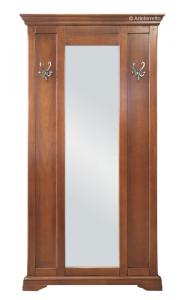 Mueble de entrada en madera con espejo largo