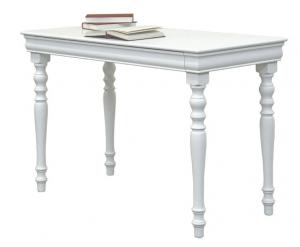Mesa de despacho estilo clásico laqueada blanca