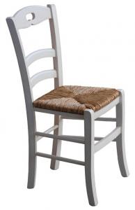 Silla con asiento en paja estilo clásico de cocina