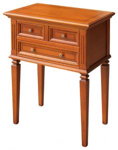 Mueble telefonera con patas y marquetería