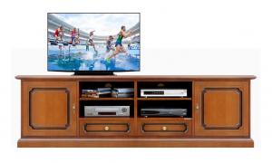 Mueble tv acabado cerezo anchura 2 m