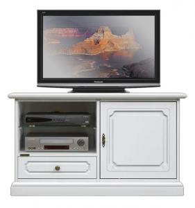 Mueble tv aparador laqueado blanco 1 puerta 1 cajón