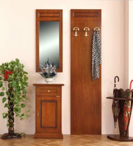 Muebles de entrada con telefonera y espejo