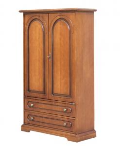 Armario de almacenaje en madera estilo clásico artesanado italiano