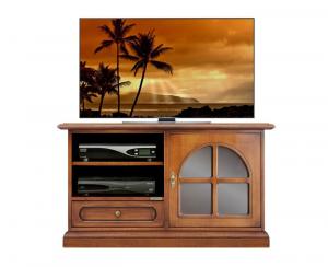 Mueble tv en madera con cajón bajo