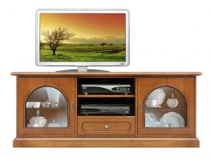 Mueble de tv en madera con vano central