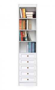 Librería ahorra espacio con cajones