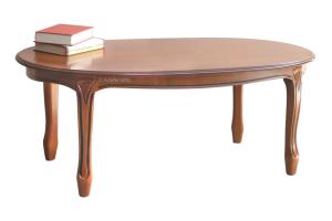 Mesa de centro ovalada, estilo clásico