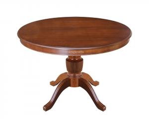 Mesa redonda de madera, extensible 110-150 cm, colección Stub