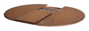 Mesa redonda lacada, 100-140 cm extensible, colección Stub