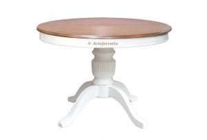 Mesa redonda bicolor, mesa extensible 100-140 cm, colección Stub