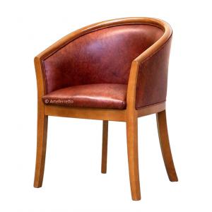 Butaca diseño italiano, de madera