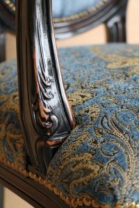 Silla cabecera con respaldo oval Dark Blue