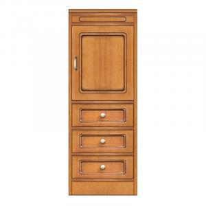 Colección Compos - Aparador modular estrecho 1 puerta 3 cajones