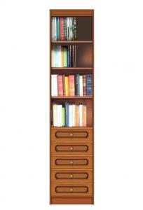 Librería alta con cajones