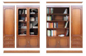 Mueble de pared vitrina, vano abierto y puertas Top