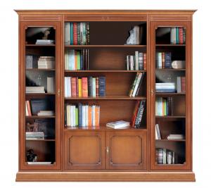 Librería vitrina de pared de madera para salón
