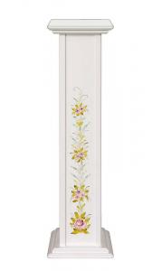 Pedestal blanco decorado para macetas