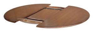 Mesa redonda bicolor extensible pata central 100 cm