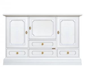Mueble aparador blanco 4 cajones