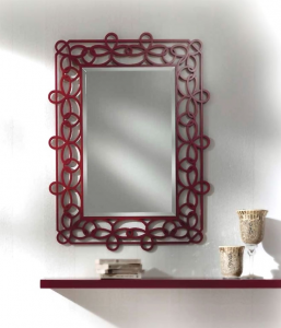 Estante y espejo para la entrada de artesanado italiano