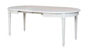 Mesa ovalada laqueada blanca elegante 130-210 cm