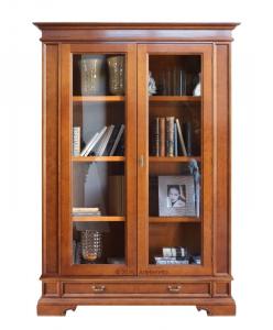Maravillosa vitrina de madera maciza con cajón