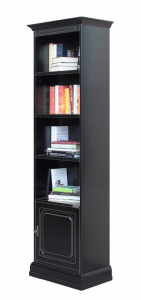 Librería columna negra ahorradora de espacio