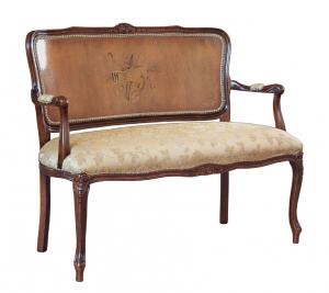 Sofa estilo clásico respaldo tapizado Melody