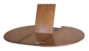 Mesa redonda laqueada negra extensible 110 cm