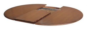 Mesa redonda con marquetería extensible 120-158 cm