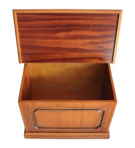 Caja de almacenaje por pellet estructura de madera
