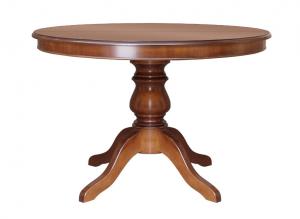 Mesa redonda estilo clásico en madera extensible 100 cm
