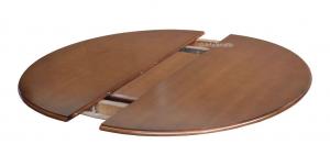 Mesa redonda negra extensible en madera 100 cm