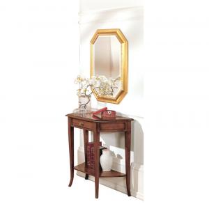 Mesa consola con estante y pequeño cajón